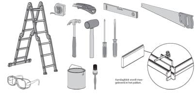 J'ai besoin de quels outils pour monter mon abri ?